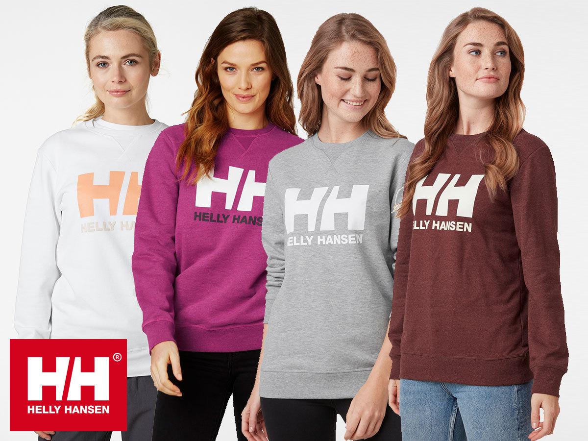 Helly Hansen W HH LOGO CREW SWEAT női pulóver 100% pamut anyagból (XS-XL)