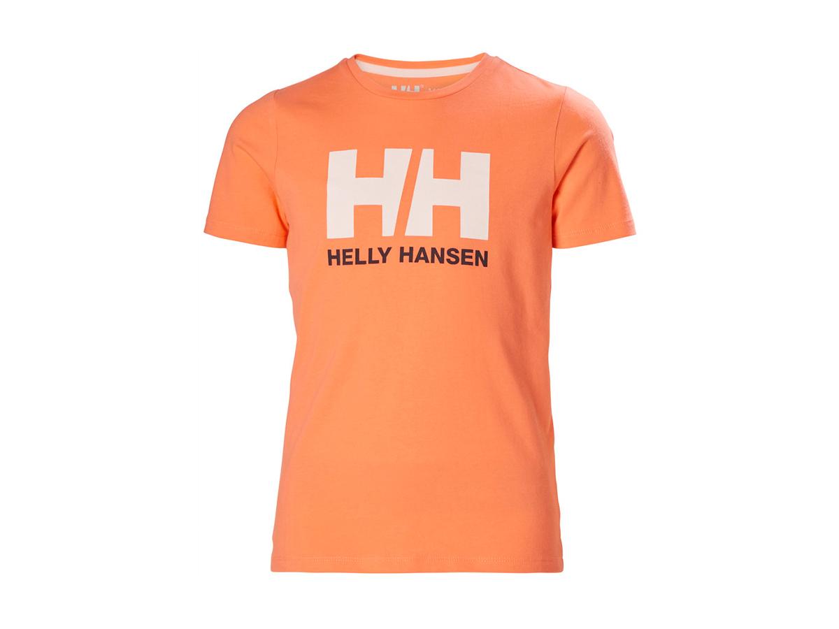 Helly Hansen JR HH LOGO T-SHIRT - MELON - 164/14 (41709_071-14 )