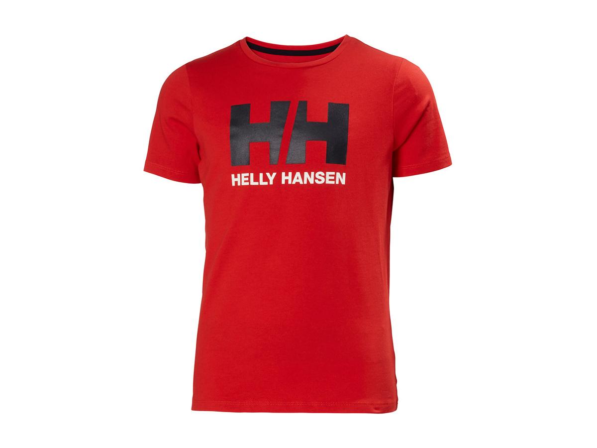Helly Hansen JR HH LOGO T-SHIRT - ALERT RED - 128/8 (41709_222-8 )