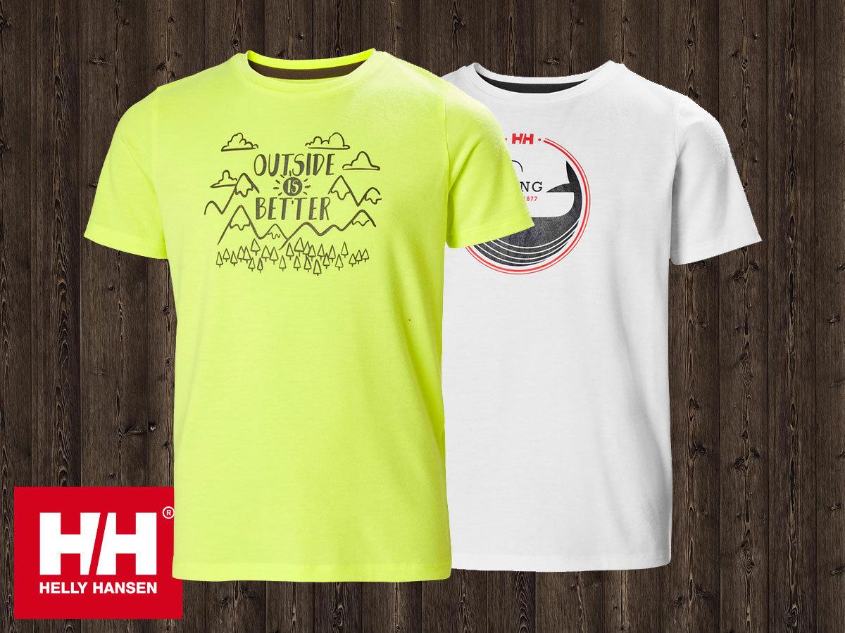Helly Hansen JR GRAPHIC QD TSHIRT fiú technikai póló, gyorsan száradó anyagból, UPF50 fényvédelemmel