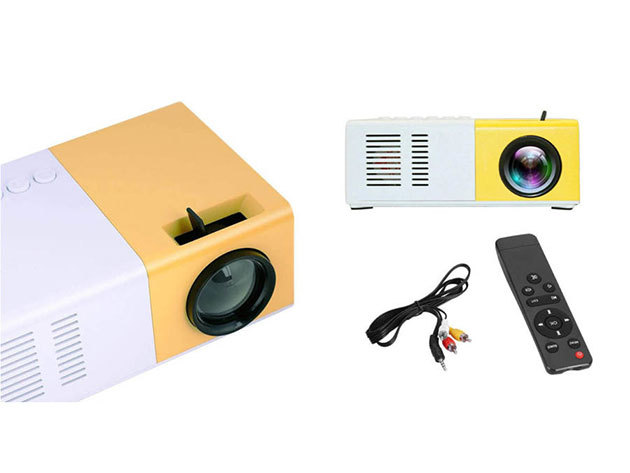 Mini LED projektor film, zene, fotó, szöveg megjelenítéséhez, beépített akksival