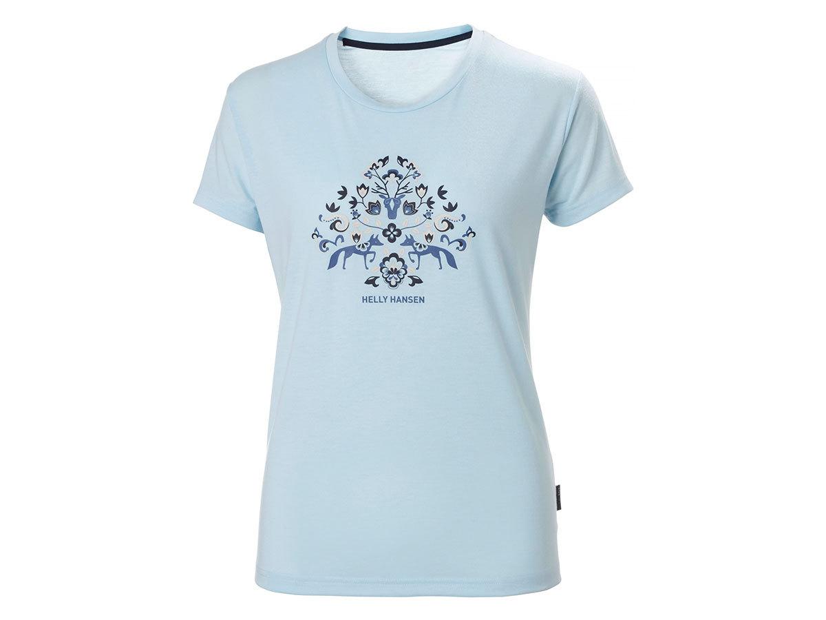 Helly Hansen W SKOG GRAPHIC T-SHIRT - ICE BLUE - XL (62877_640-XL )