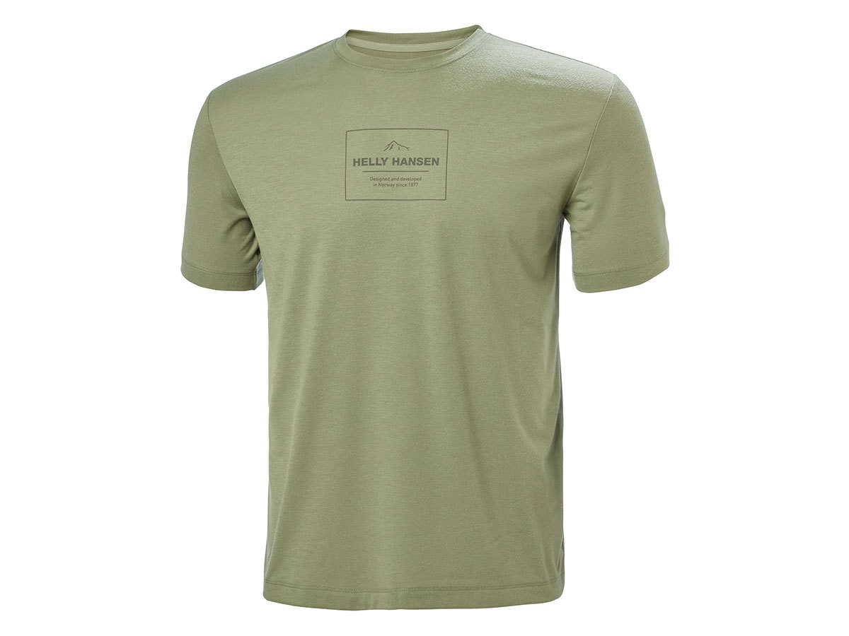 Helly Hansen SKOG GRAPHIC T-SHIRT - LAV GREEN - M (62856_421-M )