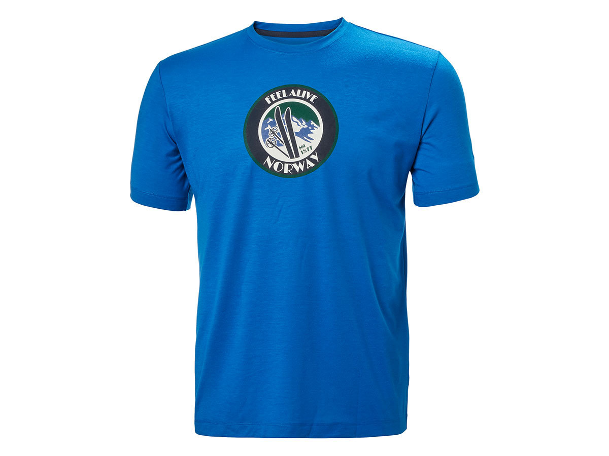 Helly Hansen SKOG GRAPHIC T-SHIRT - BLUE MOUNTAIN - XL (62856_611-XL )