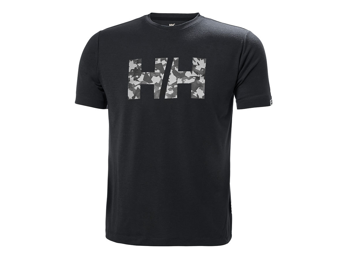 Helly Hansen SKOG GRAPHIC T-SHIRT - EBONY - XXL (62856_981-2XL )
