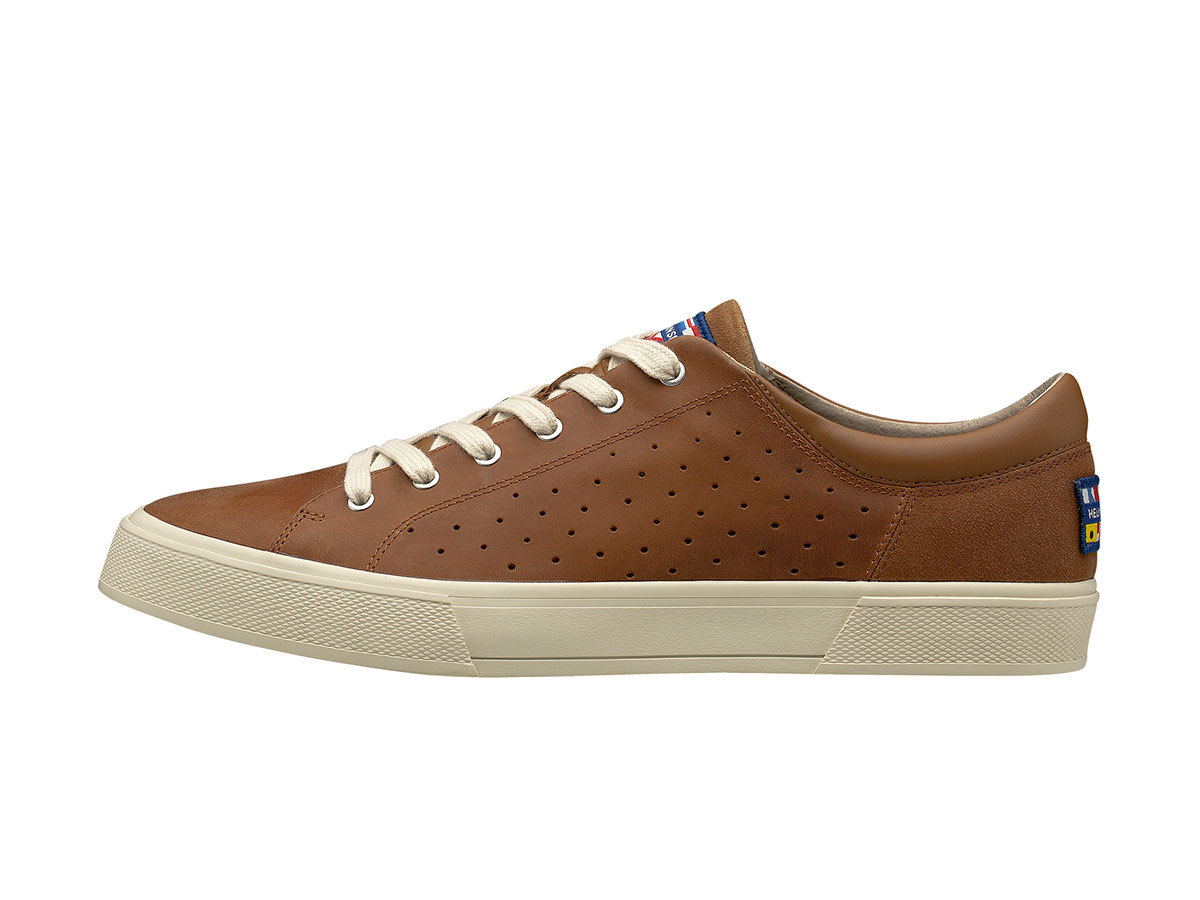 Helly Hansen COPENHAGEN LEATHER SHOE - CASHEW/ CREAM - EU 44.5/US 10.5 (11502_710-10.5 )