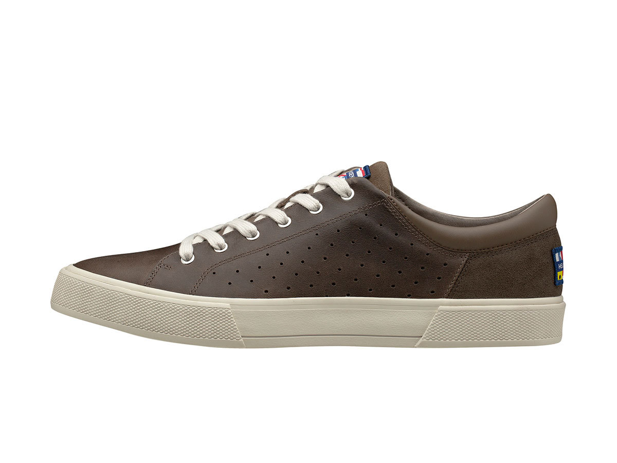 Helly Hansen COPENHAGEN LEATHER SHOE - FOSSIL / ALUMINIUM / MOON - EU 40/US 7 (11502_719-7 )