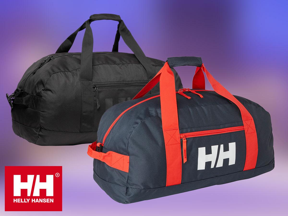 Helly Hansen SPORT DUFFEL 50L és 70L vízálló sporttáska strapabíró anyagból, rögzíthető cipzárral, tárolózsebbel (kicsire csomagolható)