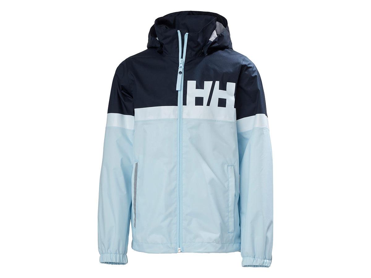 Helly Hansen JR ACTIVE RAIN JACKET - ICE BLUE - 140/10 (41696_640-10 )