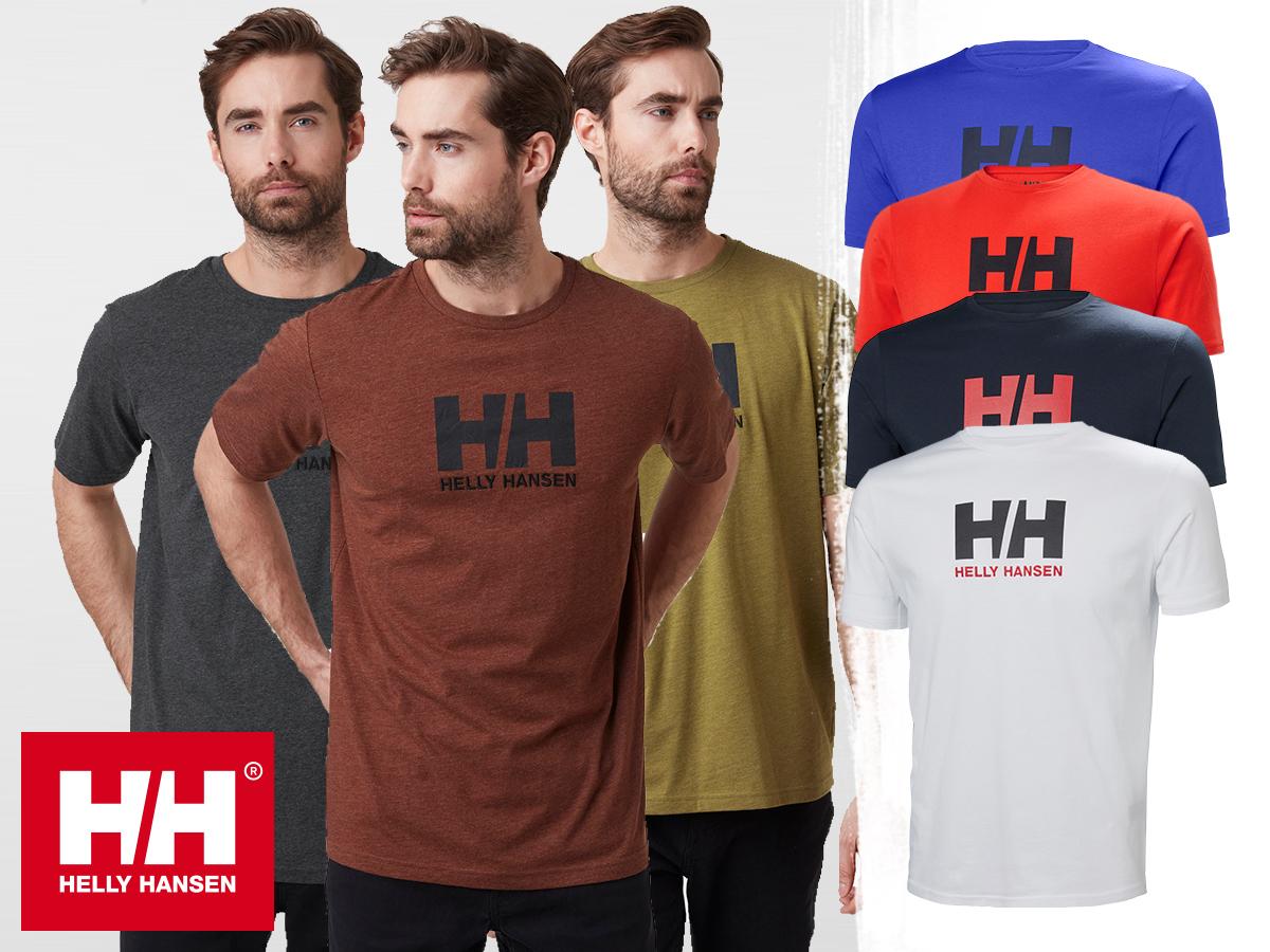Helly Hansen HH LOGO T-SHIRT rövid ujjú férfi póló 100% pamut dzsörzé anyagból (S-4XL)