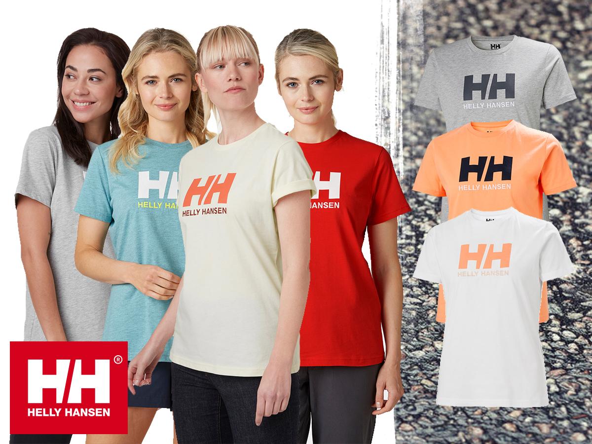 Helly Hansen W HH LOGO T-SHIRT rövid ujjú női póló 100% pamut (könnyű dzsörzé) anyagból (XS-XL)