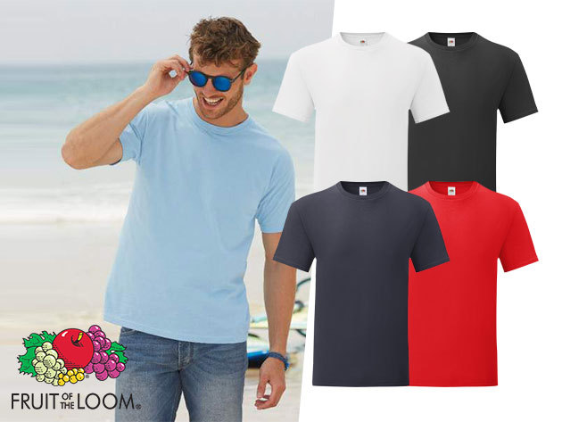 Fruit of the Loom hosszú ujjú férfi pólók -  3 db/csomag, kereknyakú fazon, 100% pamut anyagból, változatos színekben, S-XXL méretig