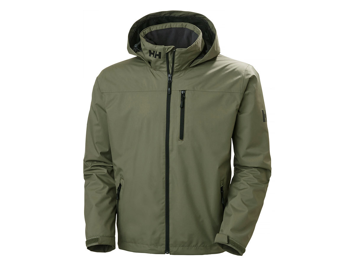 Helly Hansen CREW HOODED MIDLAYER JACKET - LAV GREEN - XXL (33874_421-2XL )