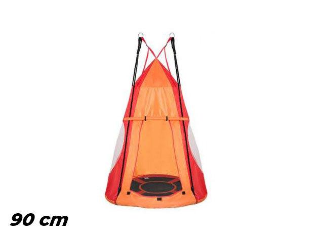 Fészekhinta sátorral 90 cm, piros