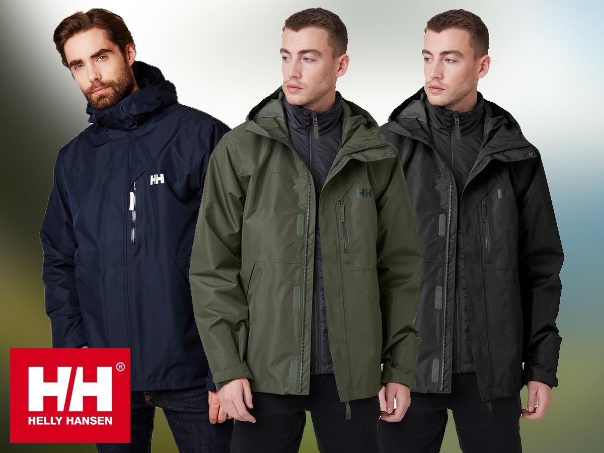 Helly Hansen SQUAMISH CIS JACKET - férfi kabát (S-XXL), három az egyben kialakítással / vízálló, szélálló, lélegző anyag