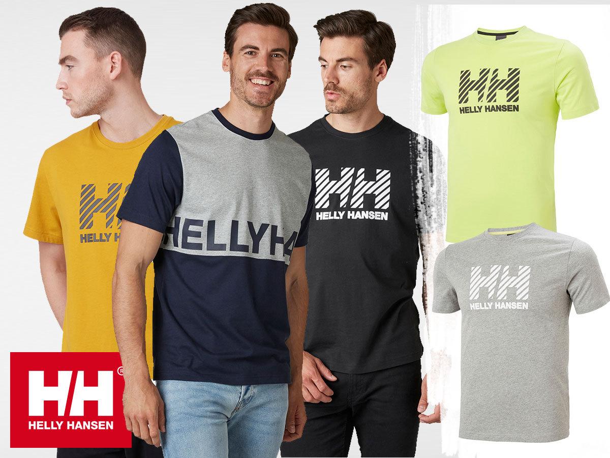 Helly Hansen ACTIVE T-SHIRT rövid ujjú férfi póló, puha kevert szálas pamut anyagból (XS-XXL)