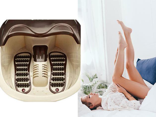 Talpmasszírozós lábfürdő - állítható hőmérséklet és időtartam, pezsgőfürdő funkció