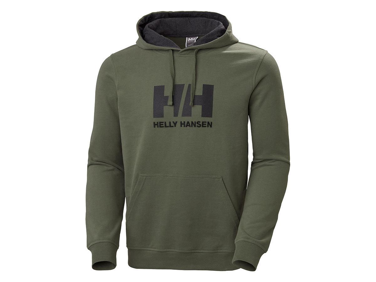 Helly Hansen HH LOGO HOODIE - LAV GREEN - XL (33977_421-XL ) - AZONNAL ÁTVEHETŐ