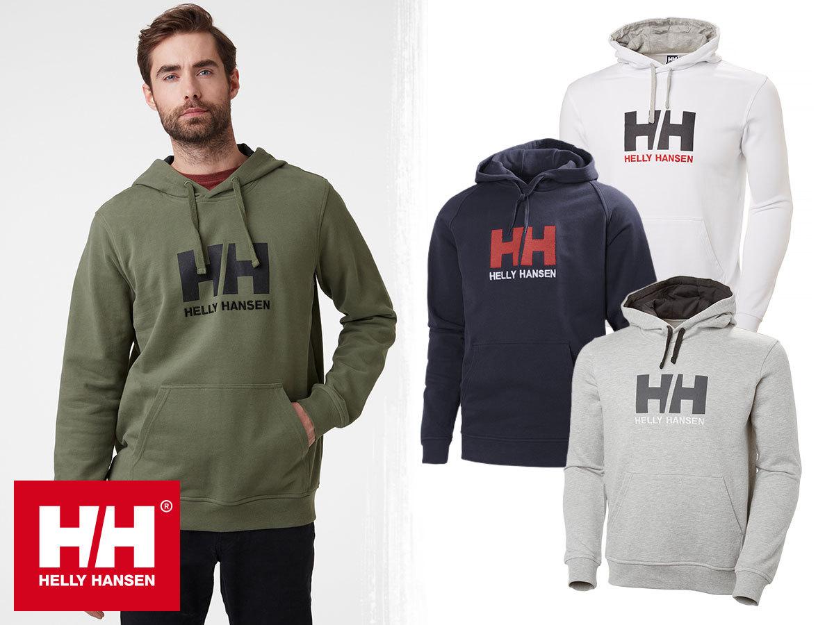 Helly Hansen HH LOGO HOODIE kapucnis, kényelmes férfi pulóver pamutból S-XXL méretben