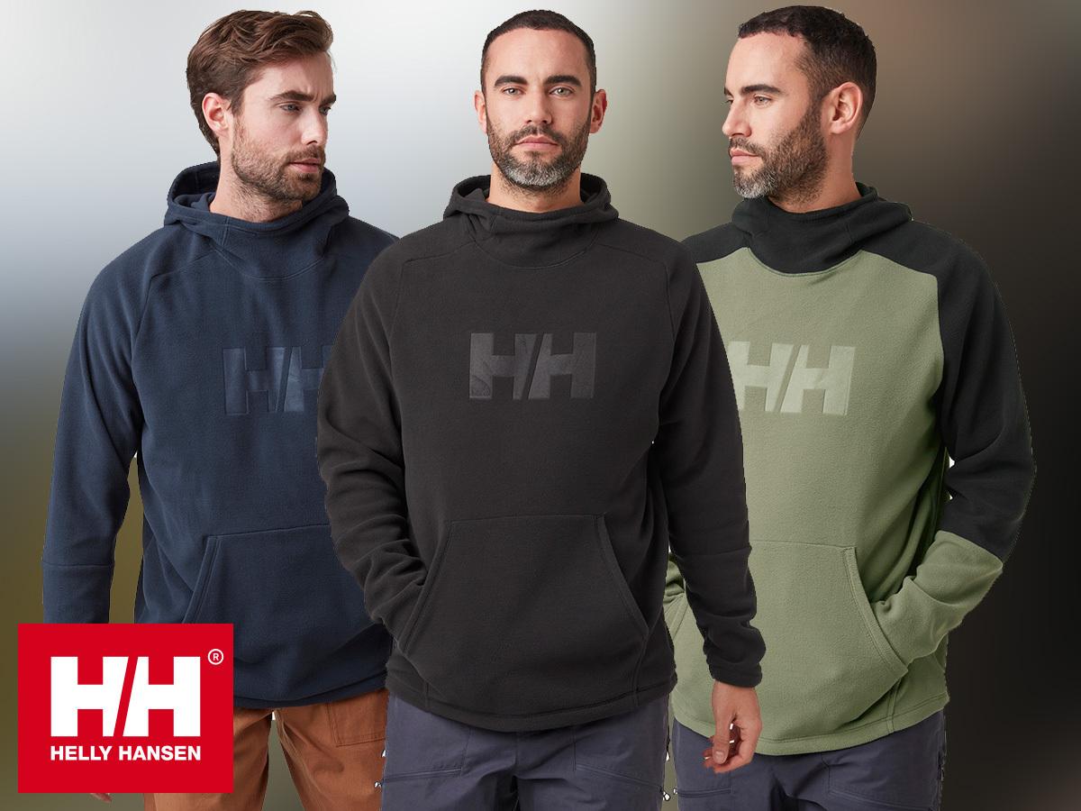 Helly Hansen DAYBREAKER LOGO HOODIE férfi pulóver 100% újrahasznosított Polartec® anyagból