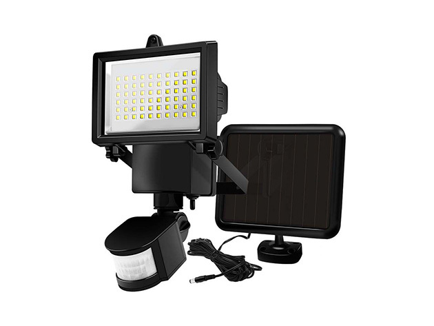 Mozgásérzékelős, napelemes reflektor, 60 LED - HOP1000961-1