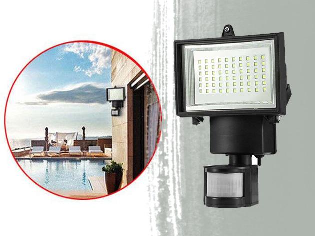 Mozgásérzékelős, napelemes reflektor - 60 db hidegfehér LED, állítható érzékenység és fényerő, automata és manuális bekapcsolás