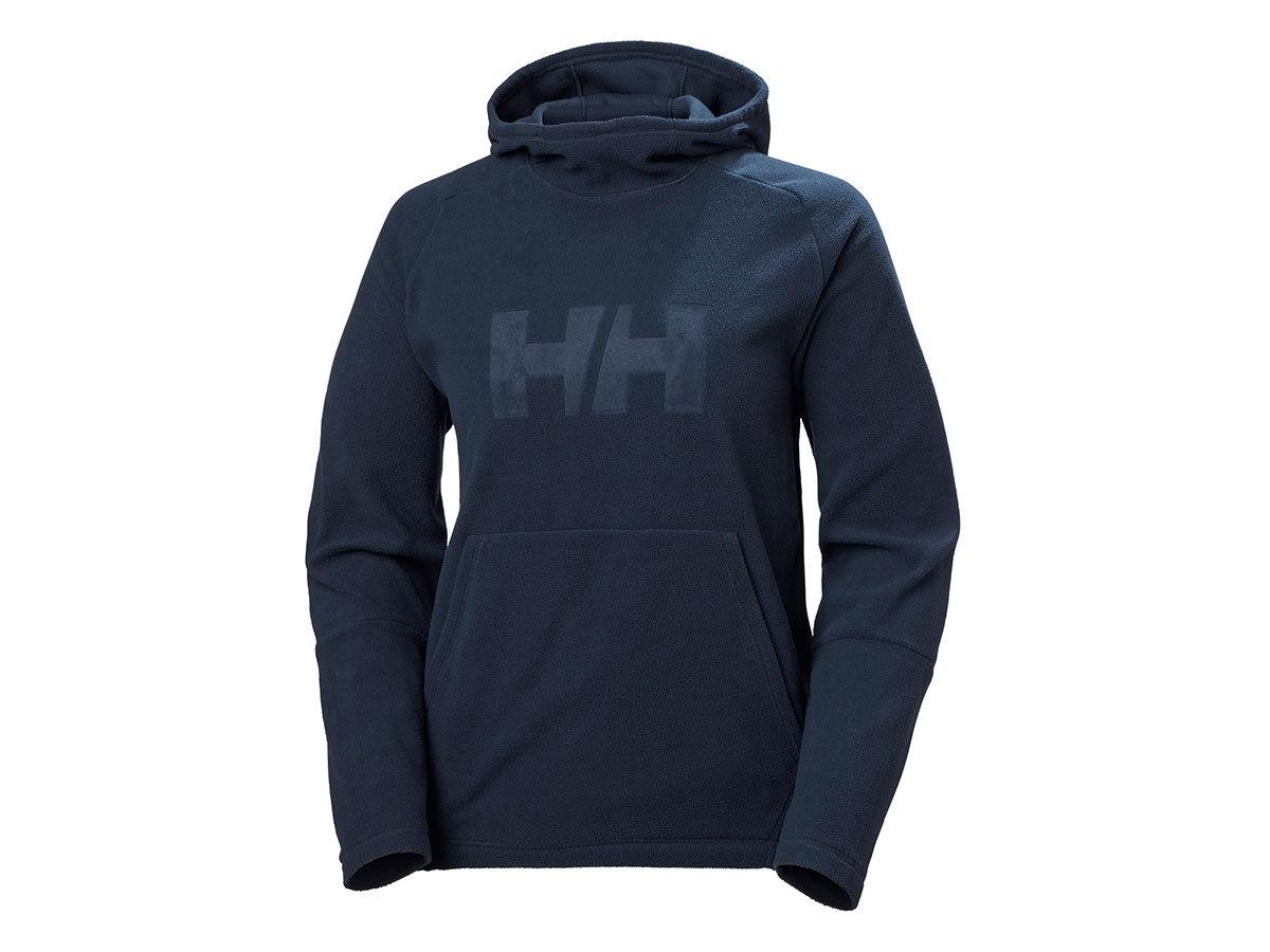 Helly Hansen W DAYBREAKER LOGO HOODIE - NAVY - L (51894_597-L ) - AZONNAL ÁTVEHETŐ