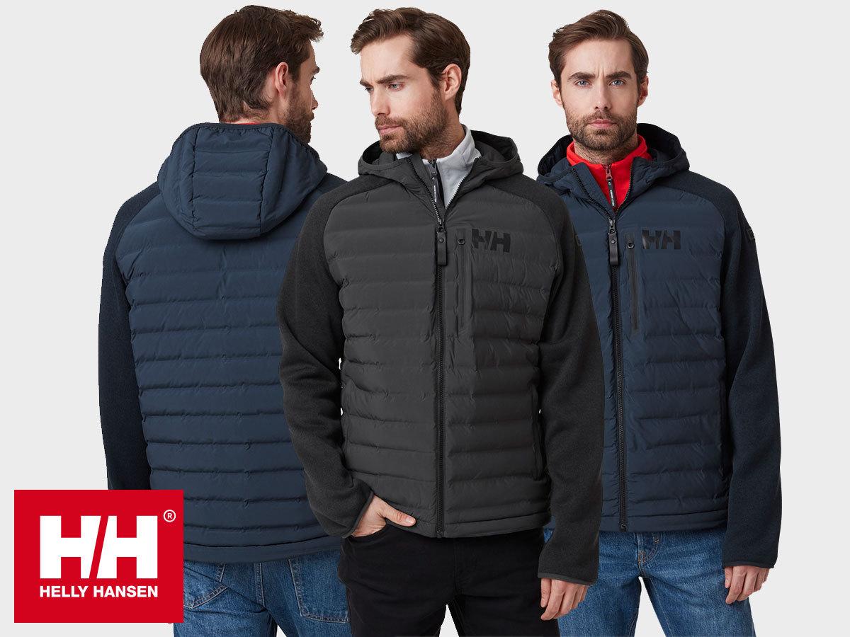 Helly Hansen ARCTIC OCEAN HYBRID INSULATOR férfi kabát kapucnival - extra könnyű, mégis meleg, kitűnően szigetel
