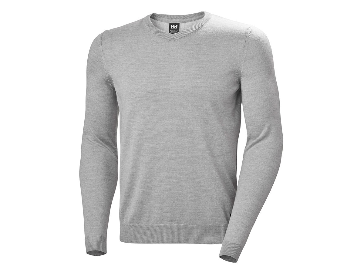 Helly Hansen SKAGEN MERINO SWEATER - GREY MELANGE - L (33997_950-L )
