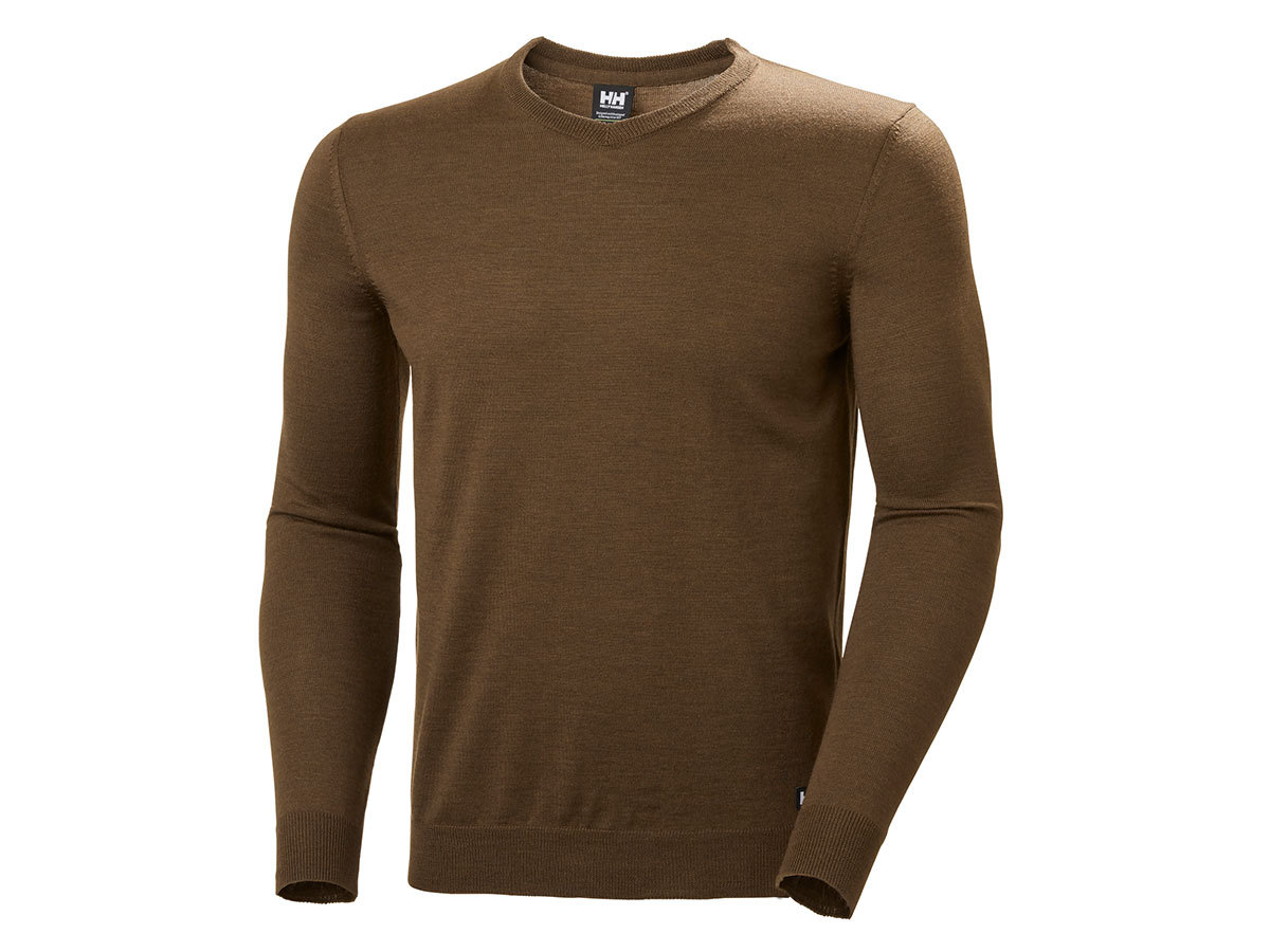 Helly Hansen SKAGEN MERINO SWEATER - KODIAK BROWN - M (33997_778-M )