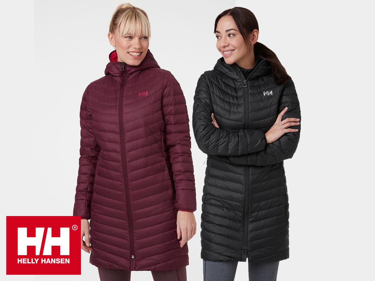 Helly Hansen W VERGLAS LONG DOWN INSULATOR hosszabb fazonú női téli kabát kapucnival, pehely töltettel
