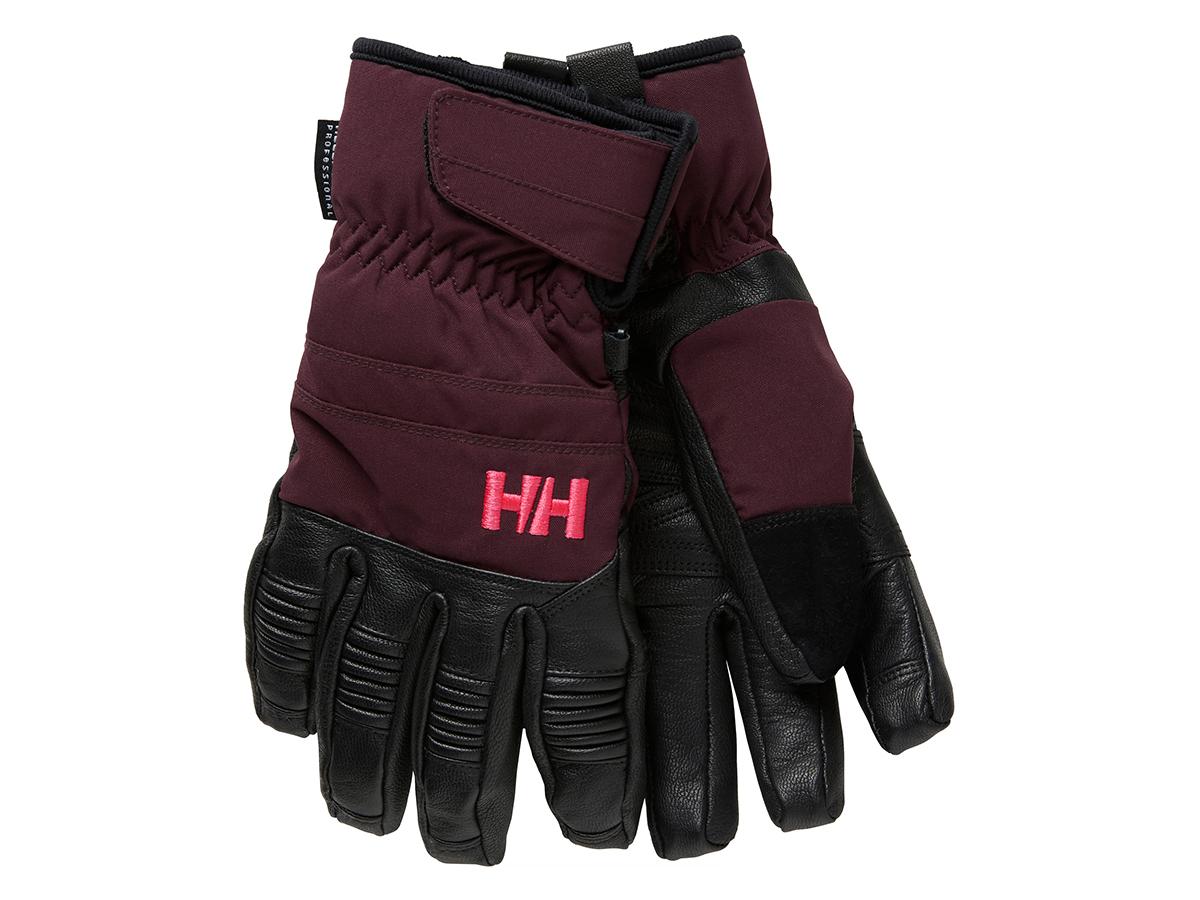 Helly Hansen W LEATHER MIX GLOVE - WILD ROSE - M (67463_662-M )