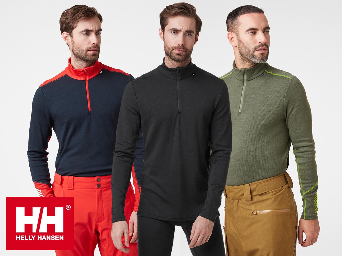 Helly Hansen LIFA MERINO MIDWEIGHT 1/2 ZIP férfi aláöltözet - Lifa® technológia, 100%-os tisztaságú merinó gyapjú és technikai anyag kombinációja