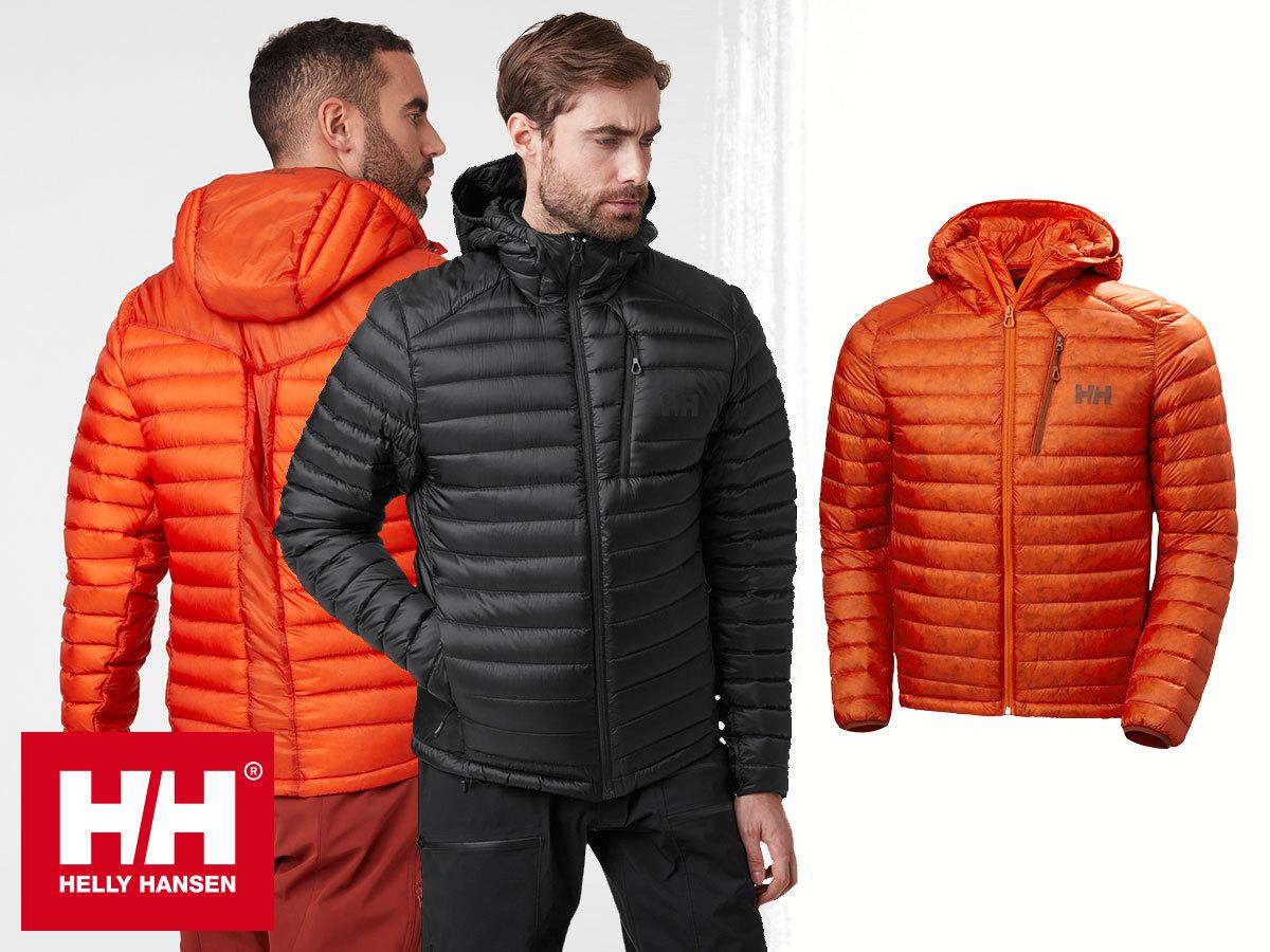 Helly Hansen ODIN LIFALOFT DOWN HYBRID férfi téli kabát - LifaLoft™ & pehelytoll töltettel, kapucnival - könnyű, meleg és lélegző