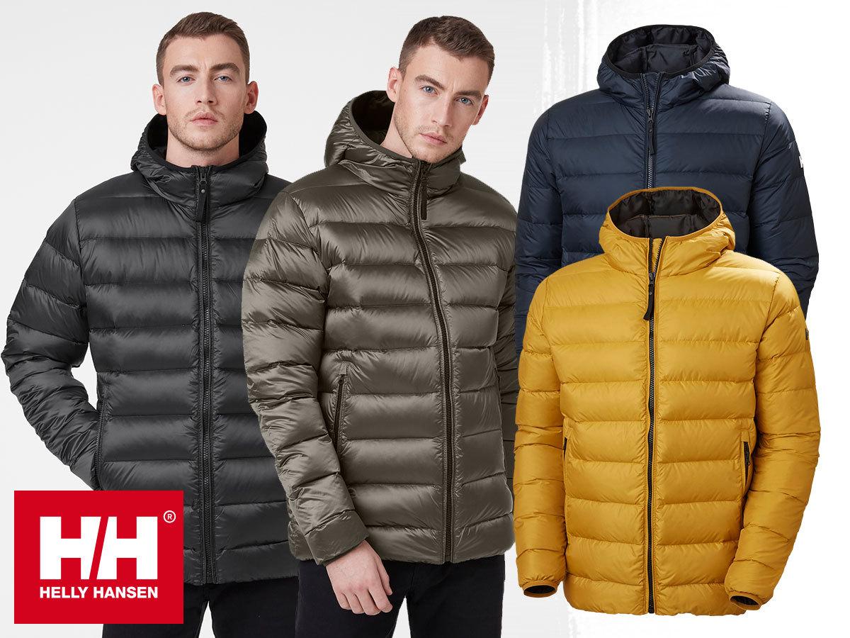 Helly Hansen SVALBARD DOWN JACKET férfi téli kabát pehelytoll töltettel, kapucnival, vízlepergető  anyagból (S-XXL)