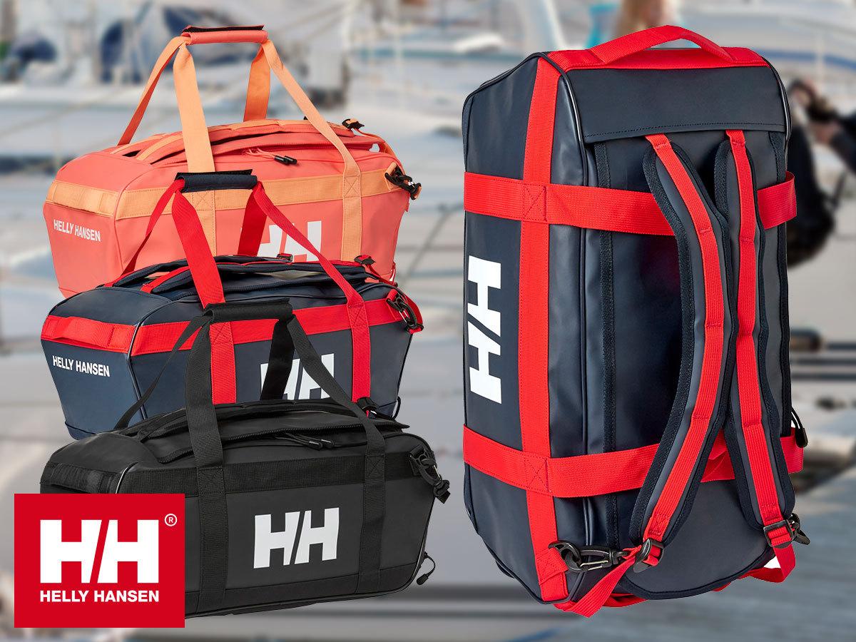 Helly Hansen HH SCOUT DUFFEL S, M, L, XL (30l / 50l / 70l / 90l) vízálló sporttáska strapabíró anyagból + WASH BAG neszesszer