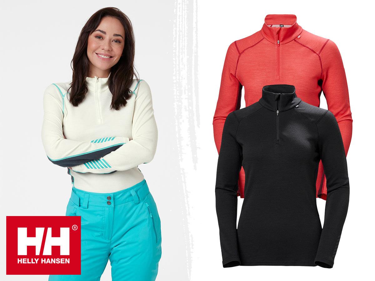 Helly Hansen W LIFA MERINO MIDWEIGHT 1/2 ZIP női aláöltözet - Lifa® technológia, 100%-os tisztaságú merinó gyapjú és technikai anyag kombinációja