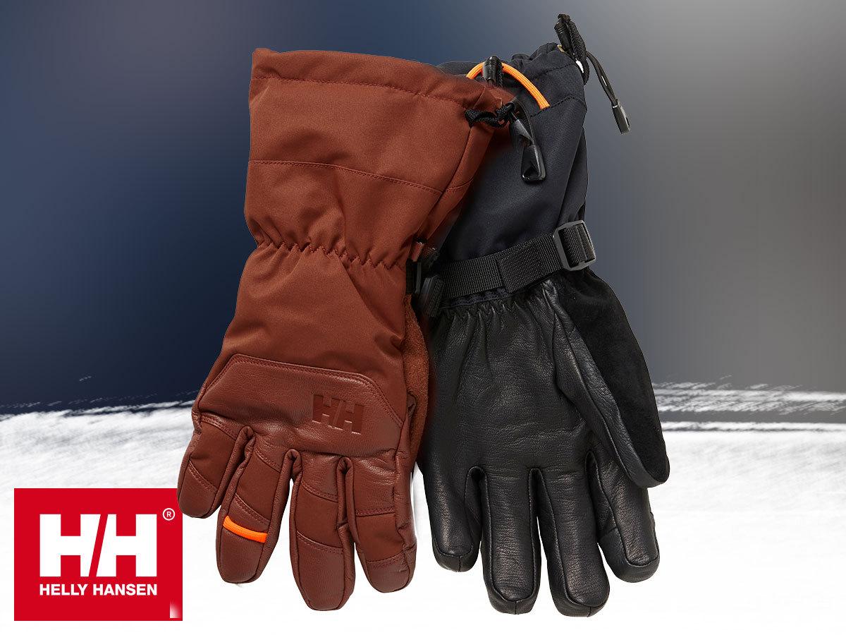 Helly Hansen ULLR SOGN HT GLOVE bélelt kesztyű prémium bőr külsővel - meleg, vízálló és lélegző, kapacitív