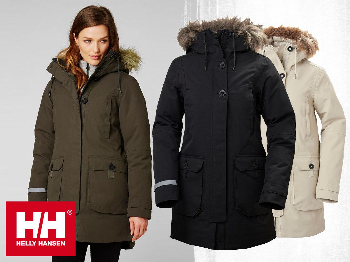 Helly Hansen W LONGYEAR II PARKA prémium női téli kabát, kapucnival, pehely töltettel, Life Pocket™ zsebbel telefonod számára