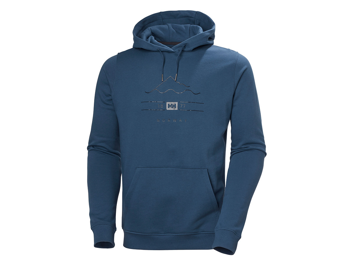 Helly Hansen F2F ORGANIC COTTON HOODIE - DEEP STEEL - XL (62934_576-XL )