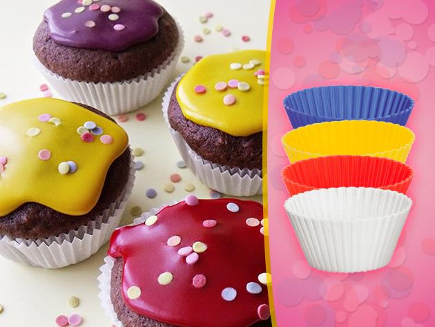 Készíts muffinokat a 4 db-os szilikon sütőforma segítségével, ami most csak 890 Ft-ba kerül!
