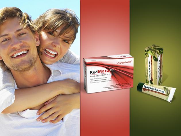 Bőrnyugtató Macskakarom gél és Red MacaPRO kapszula a férfiak egészségéért!