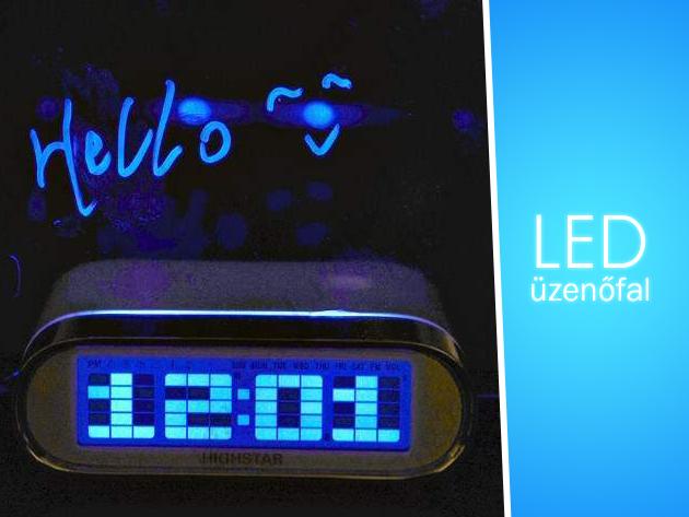 Többfunkciós készülék: LED üzenőfal, óra és hőmérő egyben, 11.990 Ft helyett 6.500 Ft-ért!