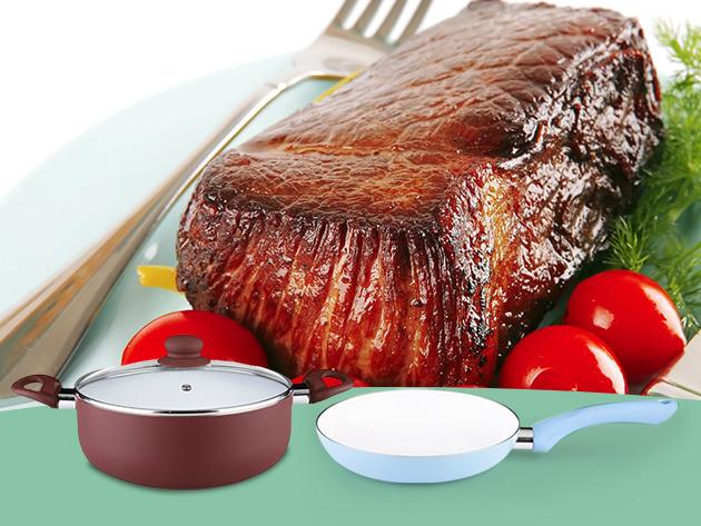 Jó étel, jó élet! Kerámia palacsintasütő, lábasok és serpenyők akár 38% kedvezménnyel!