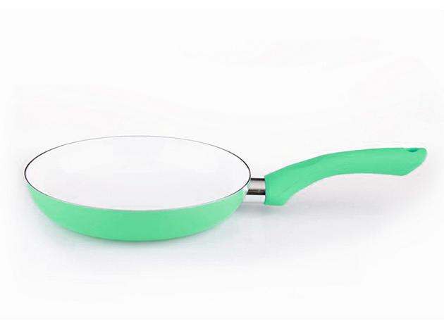 Zöld kerámia serpenyő 28 cm