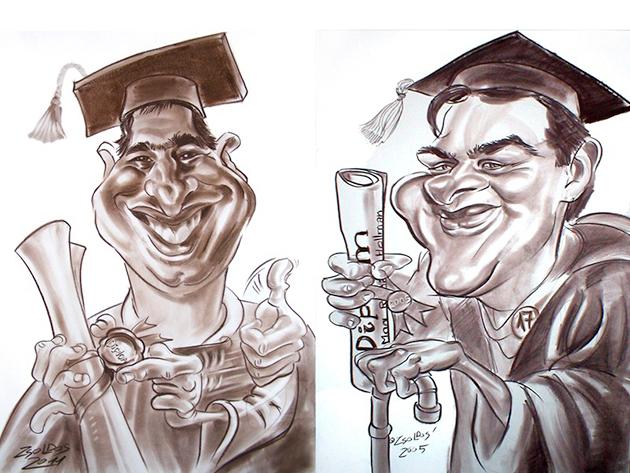 A legütősebb tablókép: egy humoros karikatúra rólad, a barátoddal együtt, vagy a csapattal!