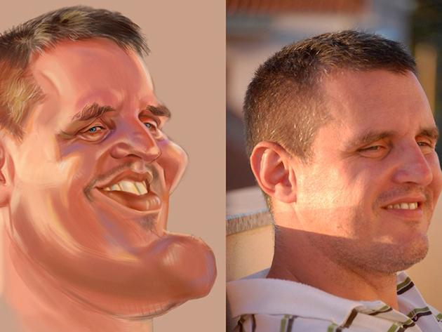 Arc - Digitális festmény. 1 arc.