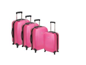 4 darabos poggyász készlet, ABS anyagból, kemény fallal: 29.990 Ft
