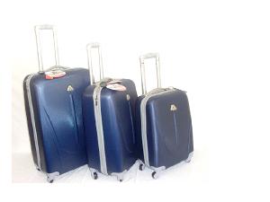3 darabos poggyász készlet, ABS anyagból, kemény fallal: 23.990 Ft