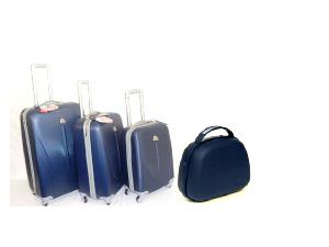 4 darabos poggyász készlet, ABS anyagból, kemény fallal: 26.990 Ft